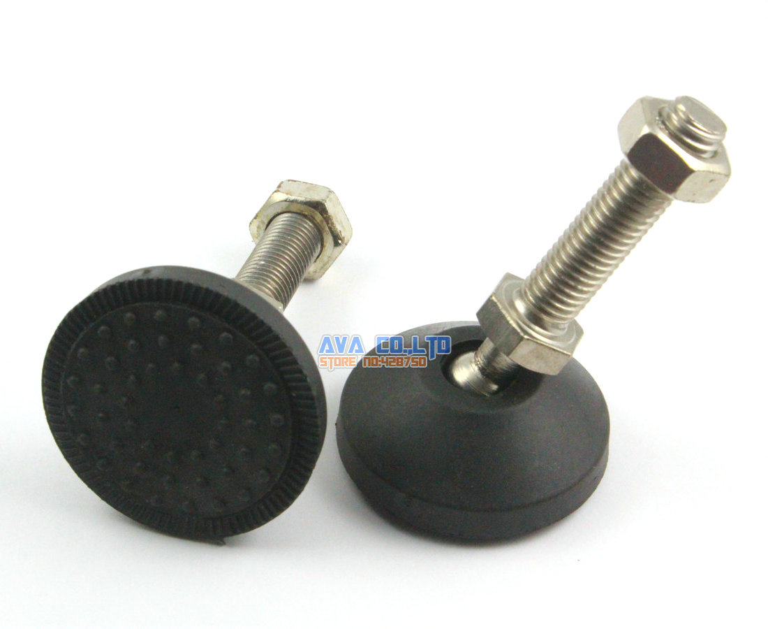 4 Pieces 50mm  Swivel Base M12*50mm Adjustable Lathe Leg Articulating Leveling Feet<br><br>Aliexpress