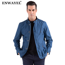 ENWAYEL Autumn High Quality Fashion Thin Stand Collar Male Casual Jacket Men Windbreaker Jackets Coat 4XL 9801(China)