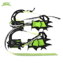 BRS-S1B  Pair of  Bundled Crampons Professional Stainless Steel Ice Gripper Ice Crampons Snow Board For Skiing Climbing
