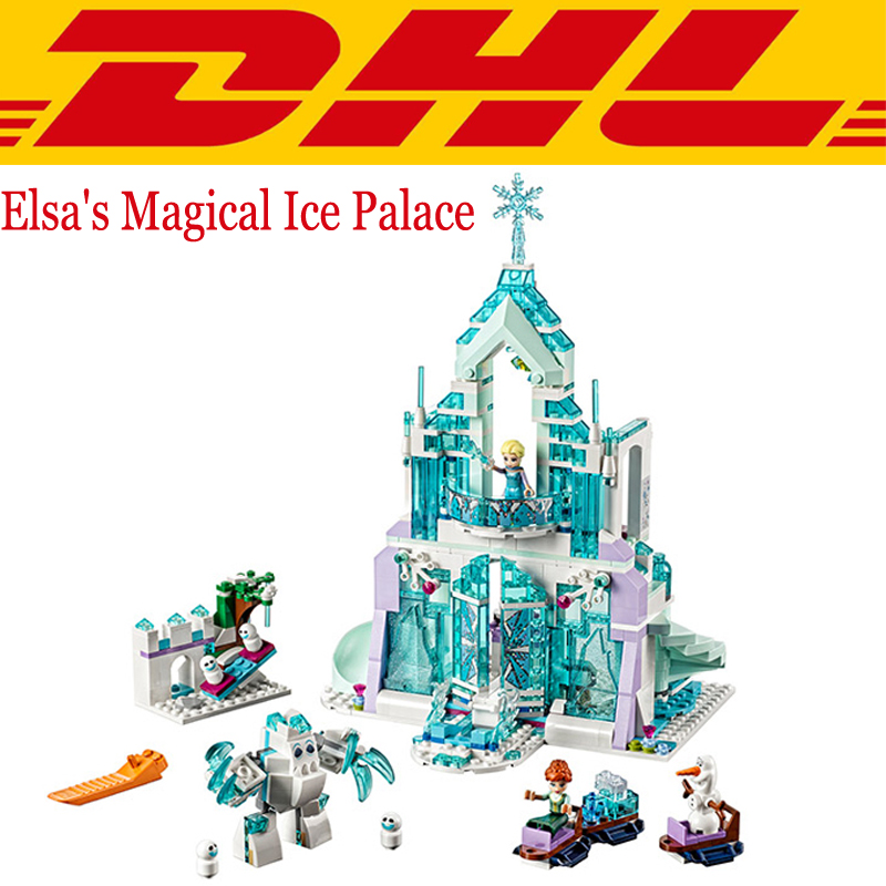 2017 New Lepin 25002 731Pcs Friend Elsas Magical Ice Palace Model Building Kits Blocks Bricks Compatible Girl Toys Gift 41148<br><br>Aliexpress
