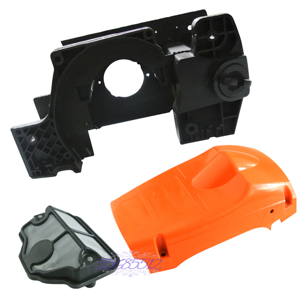 Chainsaw Engine Housing Cylinder Cover &amp; Air Filter For HUSQVARNA 137 142 New<br>