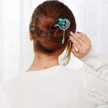 Trendy Colorful Women Retro Crystal Butterfly Flower Hairpins Hair Stick Hair Clip Gift