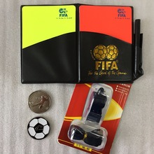 Soccer Referee Yellow Red Card Whistle Card Soccer Pencil Notebook Football Champion Pick Edge Finder Coin Referee Equipment
