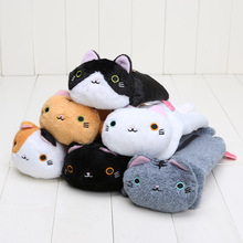 6pcs/set Cat Plush Toys Cartoon Kutusita Nyanko Cat Plush Toy Super Kawaii Mini Boots Cat Neko Dolls