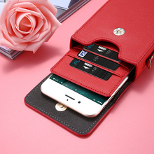 6'' Mini Handbag Leather Wallet Cases For iPhone 7 6 6S Plus Case Phone Wallet For LG Samsung Galaxy S8 A3 A5 iPhone 7 6 5s Case(China)