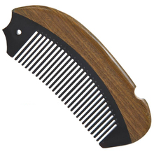 1 Pcs High-quality natural angle wood combs horns + green sandalwood fish combs anti-static professional innovation process comb(China)