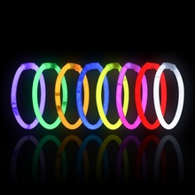 Multi Color Fluorescence Light Glow Sticks Bracelets Necklaces Neon Party Stickers For Sports Meet Bright Colorful Light Toys