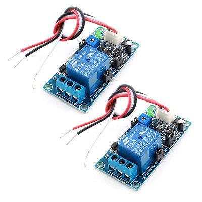 2Pcs DC 12V 1 Channel Power OFF Time Delay Relay PCB Circuit Module for Car<br><br>Aliexpress