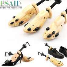 BSAID 1 Piece Shoe Stretcher Wooden Shoes Tree Shaper Rack,Wood Adjustable Flats Pumps Boots Expander Trees Size S/M/L Man Women(China)