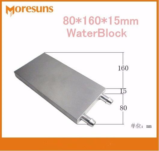 Fast Free ship 2pcs/lot 80*160*15mm water block/Aluminum Water Cooling Block liquid cooling block radiator<br>