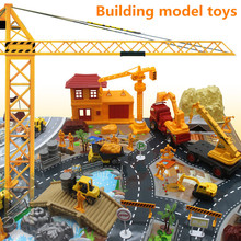 Building model toys,engineering model,construction site scene set,environmentally friendly plastic,educational toy,free shipping(China)