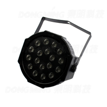 18W 18Leds PAR64 DMX-512 18W AC 110-220V LED Stage Laser Light DJ Par RGB PARTY Disco/Family DJ Lighting,EU/US Plug