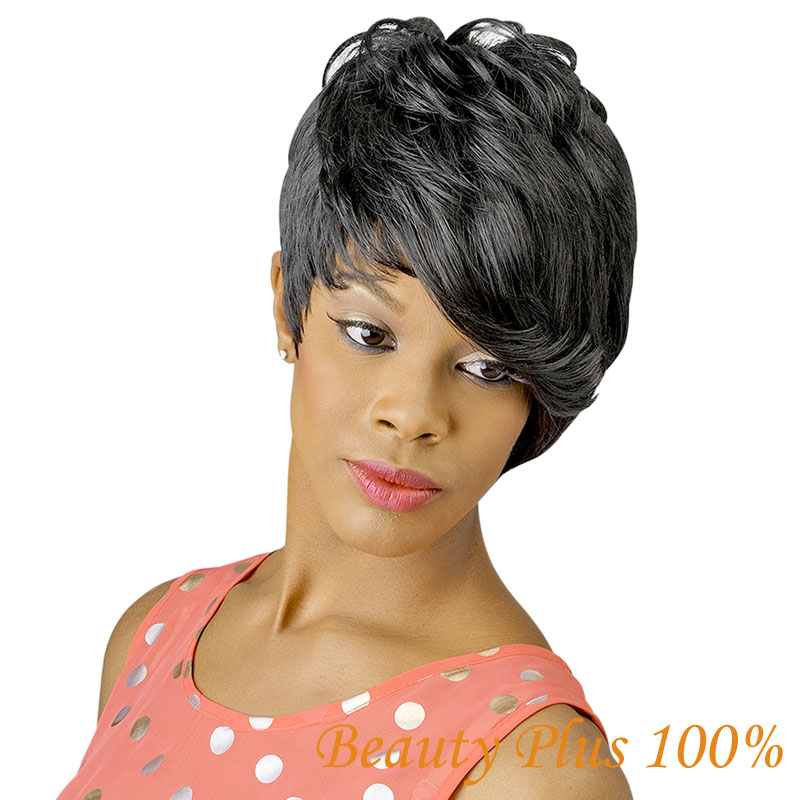 1PC Natural Wig African American Short Hairstyles Wigs for Black Women Synthetic Quality Assurance Straight Auburn  Wig<br><br>Aliexpress