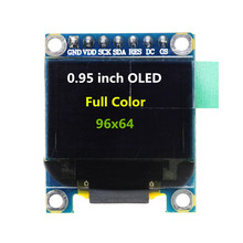 0.95 Inch Full Color OLED Display Module with 96x64 Resolution SPI Parallel Interface SSD1331 Controller 7PIN(China)