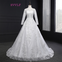 Buy Vestido De Noiva 2017 Muslim Wedding Dresses A-line Long Sleeves Appliques Lace Vintage Wedding Gown Bridal Dresses Real Photos for $109.20 in AliExpress store