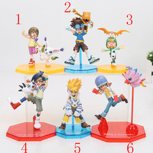 6styles Digimon Adventure Digital Yamato Gabumon Taichi Agumon Takeru Patamon Joe Gomamon Sora Piyomon PVC Action Figure Toy(China)