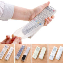Waterproof Home Air Conditioning and TV Remote Control Silicone Protective Cover the remote control silicone protection kits(China)