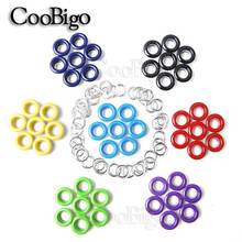 50pcs Hole 5mm Metal Colorful Eyelets with Gromment for Leathercraft DIY Scrapbooking Shoes Belt Cap Bag Tag Clothes Accessories
