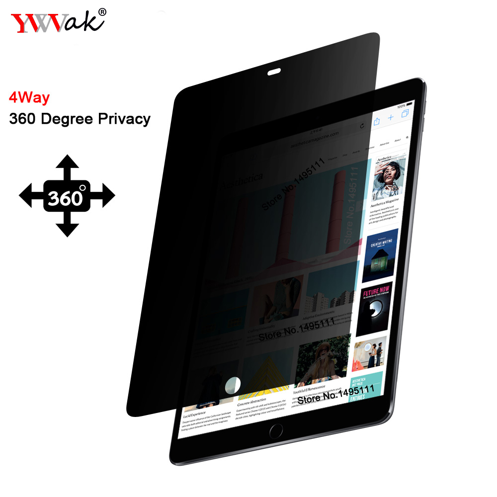 """PET 360 degree Privacy Filter For New iPad 9.7"""" 2017 2018 / Air 2 / Pro 9.7 inch, Anti-glare Screen protector Protective film"""