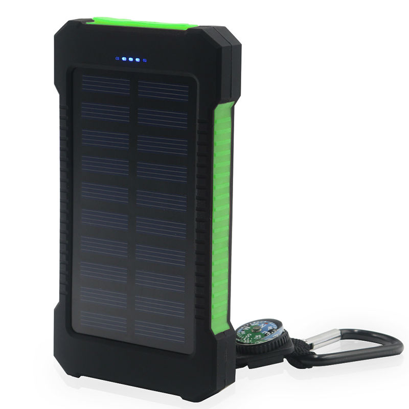 YFW Waterproof Solar Power Bank 10000mAh External Battery Pover bank Portable Mobile Charger For iPhone With Dual Output(China)
