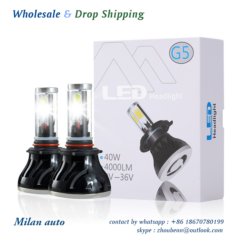 1 set  80W 8000LM  6000K G5 H7 H1 H3 H4 H11 9005 9006 9004 9007 H13 880  auto led headlight car led headlight led headlamp<br>