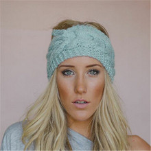 2016 Women Head Wrap Ear Warmer Hair Accessories Hair Band Girl Knitted Headband Winter Warm Twist Crochet Headwear 852134