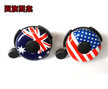 Whole Sale 100pcs/lot bike Chiming bell bike bell horn Suit HANDLE-BAR 22mm W American and Australian flag design