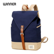 Winner Brand Fashion Unique Design Women Book Bag Ladies Backpack Bags Canvas Schoolbag Backpacks for Teenage Girls