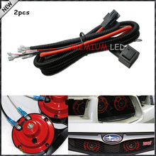 (2) 12V Horn Wiring Harness Relay Kit For Car Truck Grille Mount Blast Tone Horns (Actual Horn Not Included)