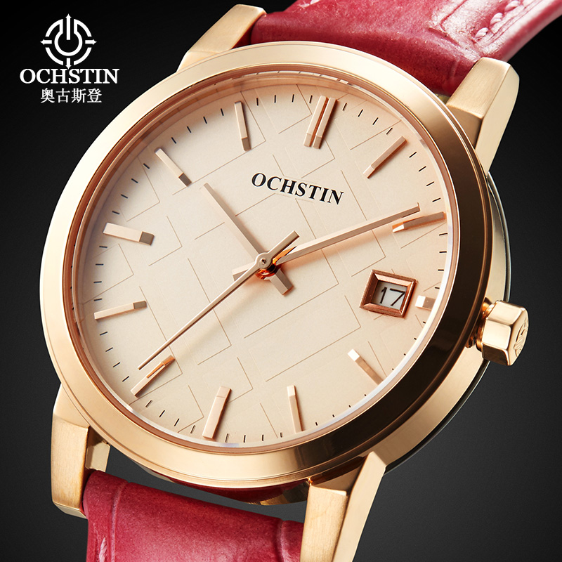 Women Genuine Leather Watches Fashion Luxury Sapphire Glass Quartz Watch Lady Casual Dress Watch Female Clock montre femme<br>