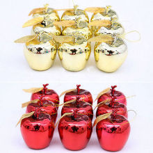 12pcs /pack Christmas Tree Xmas Apple Decorations Baubles Party Wedding Ornament Christams Favor Gift
