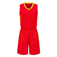 2017 Red Basketball Jerseys Top Quality Throwback Sports Men's Training Jersey Uniforms Quick Dry LD-8078(China)