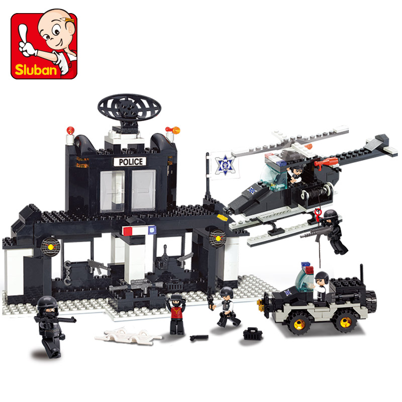 DIY Building Blocks Police Station Educational Toys for Children Self-locking figures Bricks Compatible with Lego<br><br>Aliexpress