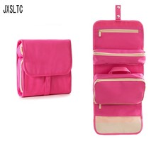 "JXSLTC New Portable Travel Bag waterproof D ""water Bag Female Health Cosmetics Organizer Bag Hanging Wash Bag Pretty Makeup Bag"
