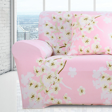 love seat pink sofa covers spandex polyester 2017 fundas de sofas universal The plum blossom flower sofa elastic covers