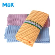 6 pieces Good Absorption Waffles Plaid Microfiber Cleaning Cloth Easy to Wash Kitchen Scouring Pad Glass Polish Washing 30x30cm