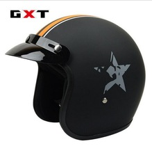 2017 New GXT harley style 3/4 motorcycle helmet motorbike helmets Four Seasons retro Glass fiber reinforced plastic - Automobile tribe store
