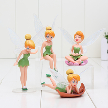 4Pcs/Set Tinkerbell Fairy PVC Action Figures Tinker Bell Fairies Model Dolls Toy