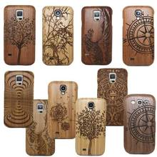 Classic Retro Mayan Pattern Bamboo Wood Carving Phone Case For Samsung Galaxy S8 S6 Edge S7 Plus/S4 MINI S5 MINI/S4 S5 Neo(China)