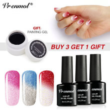 Vrenmol 8ml Temperature Changing UV Gel Nail Polish Kits Hybrid Paint Gel Varnish Buy 3 Get 1 Gift Free Gel Lacquer Manicure Set(China)