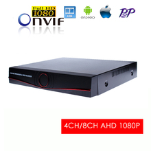 4Channel 8Ch CCTV AHD DVR Recorder Full HD 1080P 4CH 8CH for ahd Cameras P2P Onvif Motion Android iPhone OS