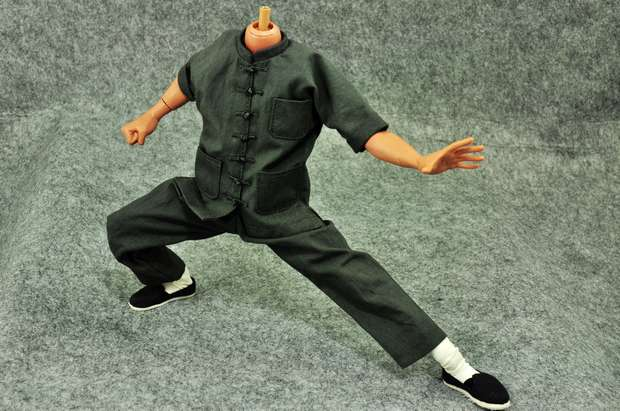 1: 6 Scale Bruce Lee Kung Fu Suit Way of the Dragon Gray Short-sleeved Costume Set For 12 Action Figure Toys Accessories<br>