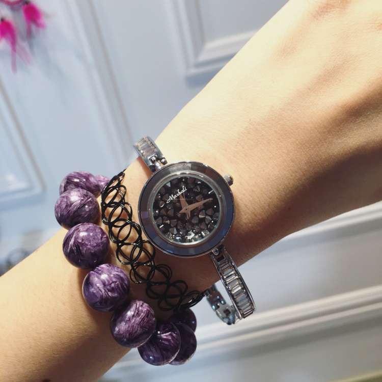 Female Watch Quartz-Watch High-Grade Ladies Watch Bracelet Strap Silver Case Full Diamond Watches Women<br><br>Aliexpress