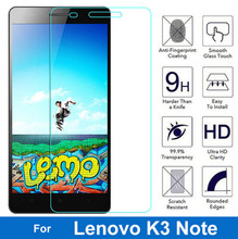 Bainov 2Pcs/lot 0.26MM Tempered Glass Film For Lenovo Lemon K3 Note Music K50-T5 A7000 Plus Screen Protector Protective Film(China)