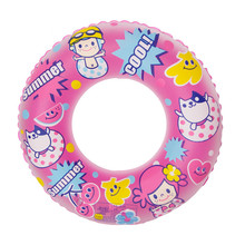 Swimming Equipment Inflatable Swimming Circle Cute Cartoon Baby Life Buoy Single-Layer Ring Float Swimming Pool Accessories(China)