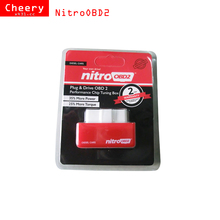 10pcs/lot Plug and Drive NitroOBD2 Performance Chip Tuning Box Benzine diesel Cars Nitro OBD2 OBD truck More Power More Torque(China)