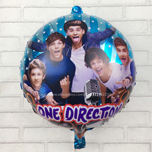 XXPWJ Free Shipping 18 inches round One Direction Balloons helium balloons for birthday party decoration cartoon balloons I-099(China)