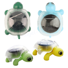 1pcs Creative Mini Solar Powered Energy Cute Turtle Tortoise Gadget Gift Educational Toy For Kids