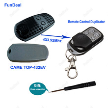 Copy CAME TOP432EV 433.92mhz Remote Control Duplicator Universal Garage Door Gate Key Fob 4 CH Remote Cloning 433mhz Fixed Code(China)