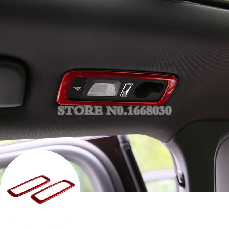 Exterior Accessories Inner Rear Reading Light Trim Cover 2pcs Red Colour for Porsche Macan 2014-2017